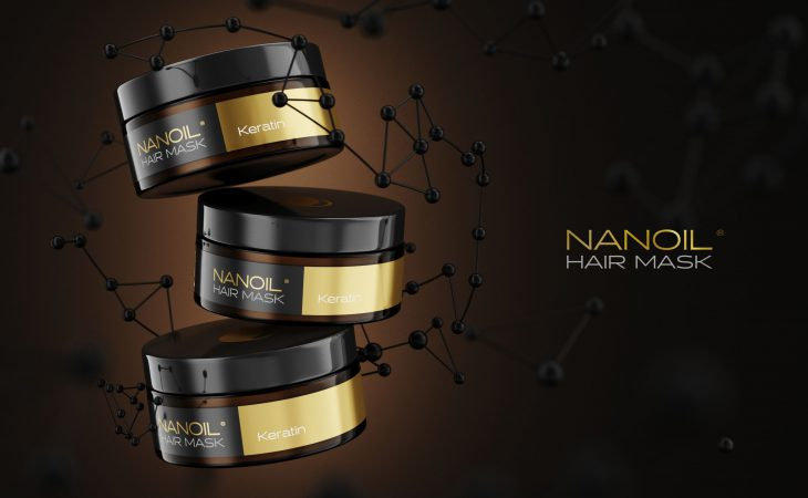 Nanoil mask with keratin for hair